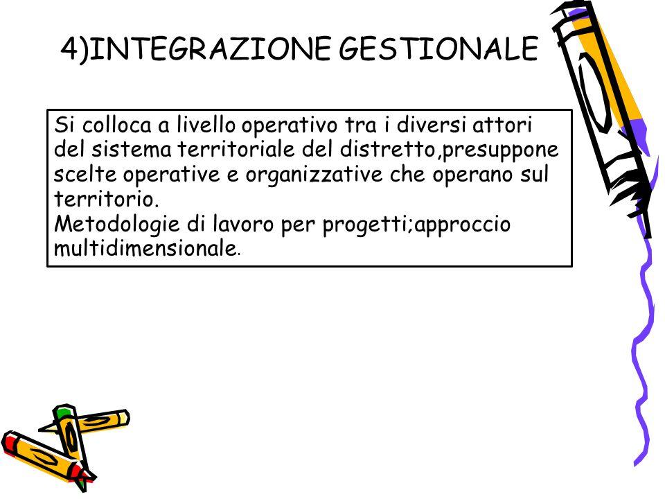 4)INTEGRAZIONE GESTIONALE