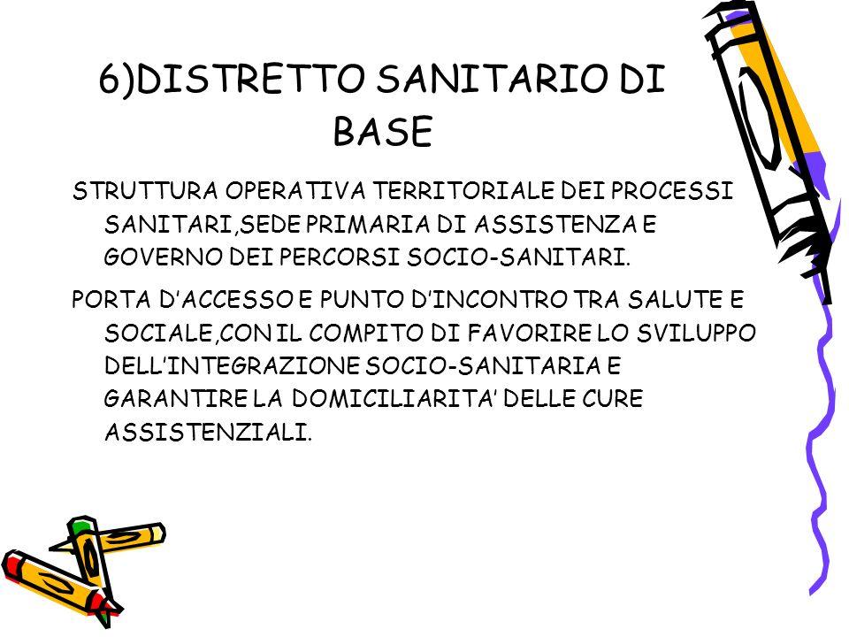 6)DISTRETTO SANITARIO DI BASE