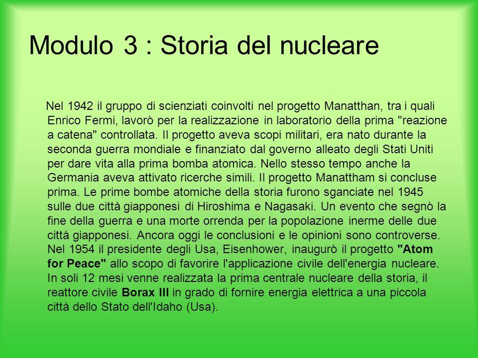 Modulo 3 : Storia del nucleare