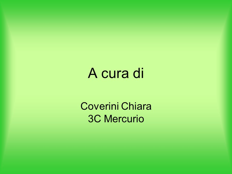 Coverini Chiara 3C Mercurio