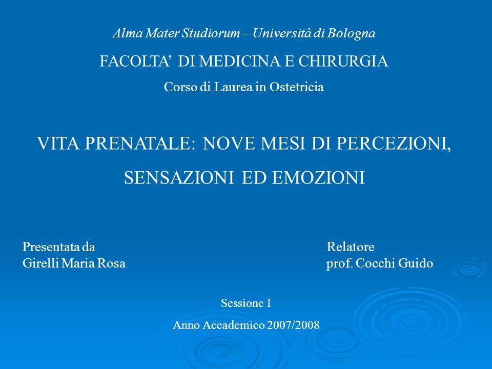 Presentata da Relatore Girelli Maria Rosa prof. Cocchi Guido