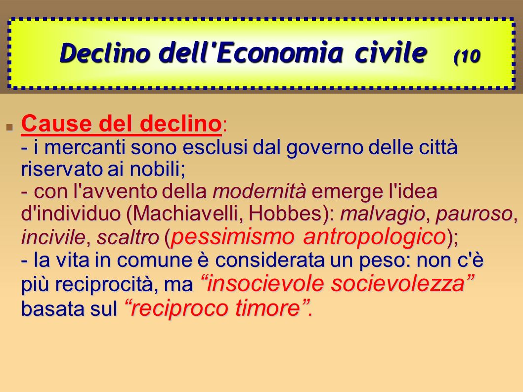 Declino dell Economia civile (10