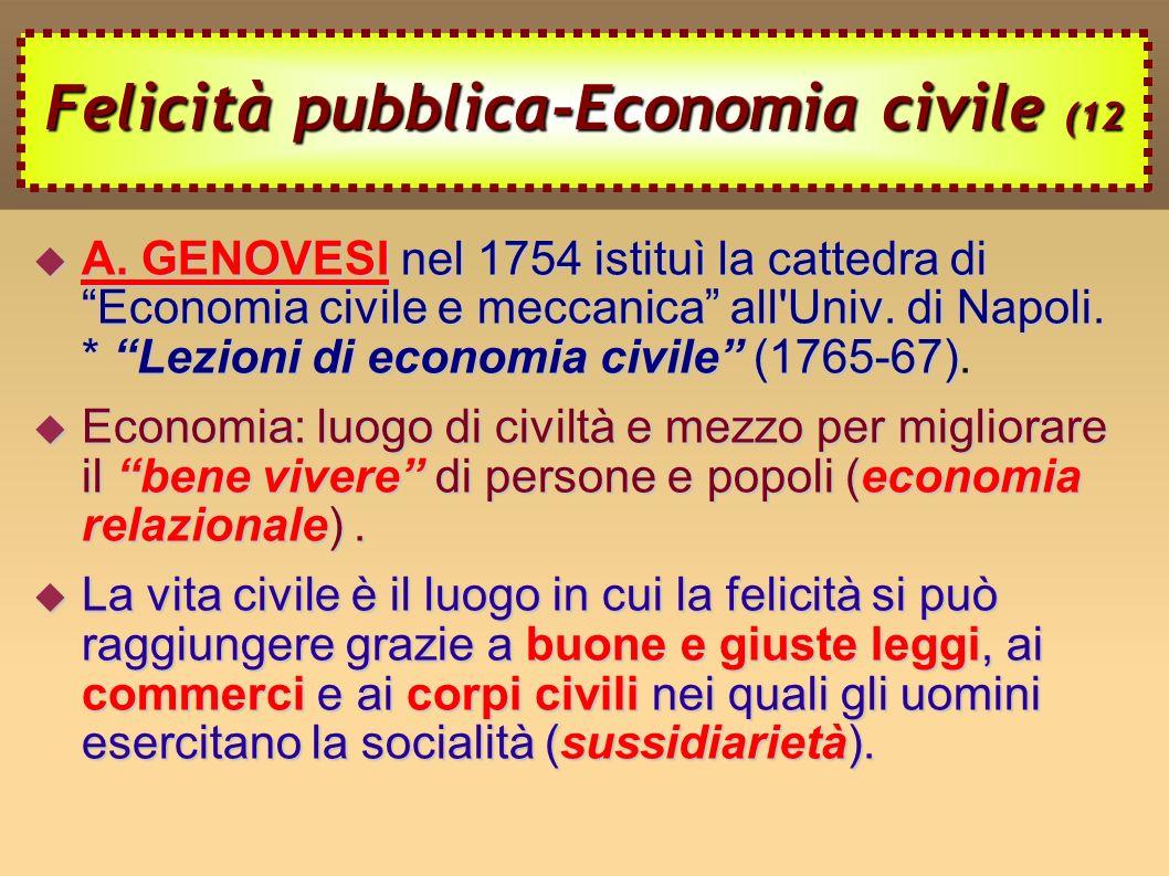 Felicità pubblica-Economia civile (12