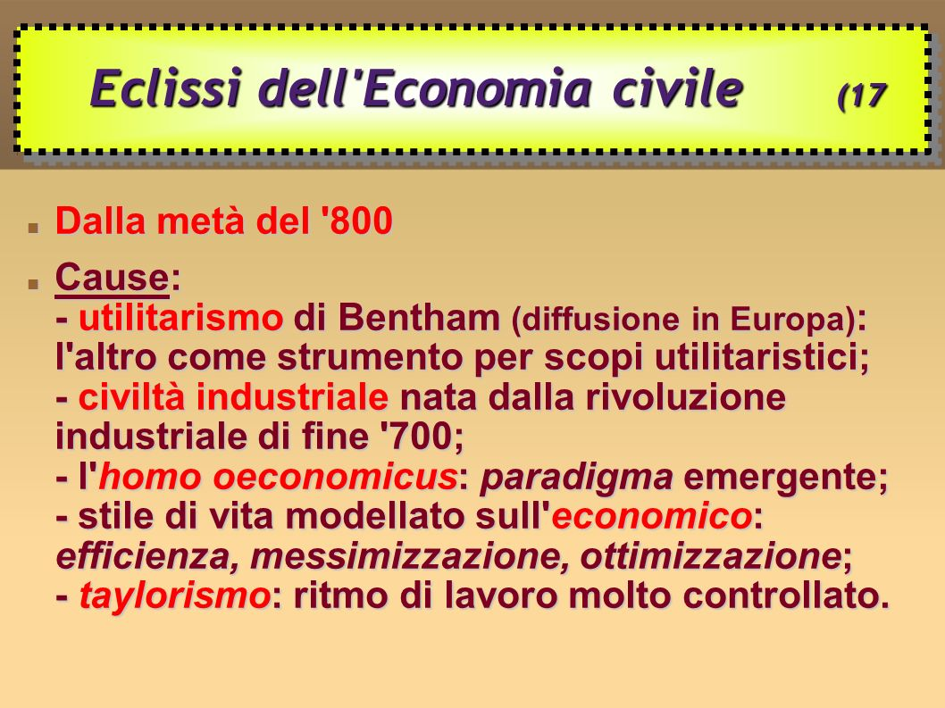 Eclissi dell Economia civile (17