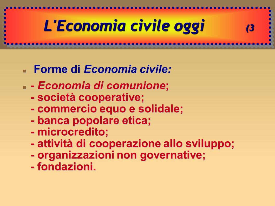 L Economia civile oggi (3