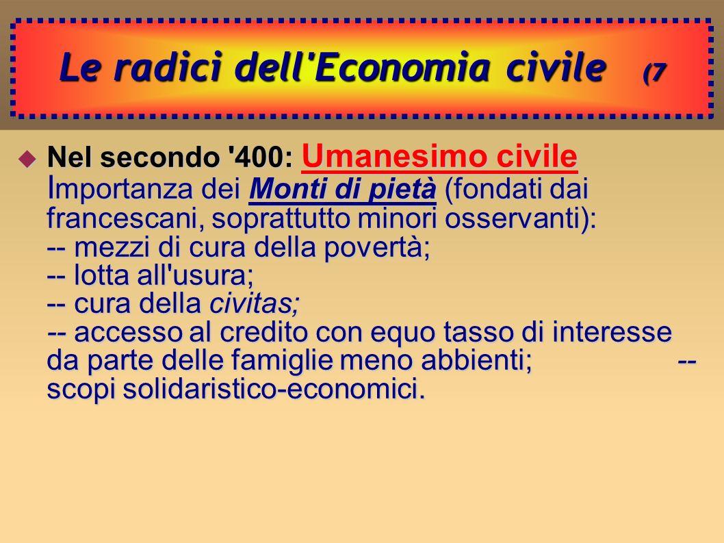 Le radici dell Economia civile (7