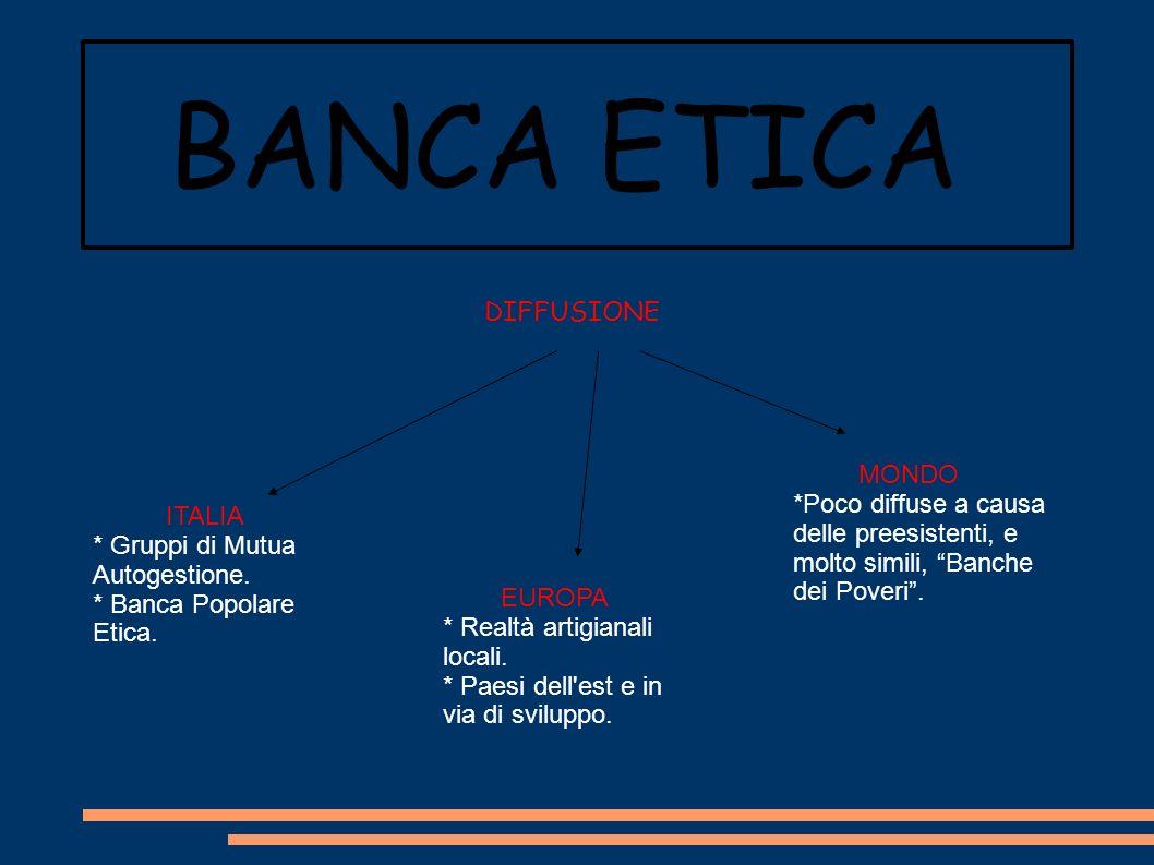 BANCA ETICA DIFFUSIONE MONDO