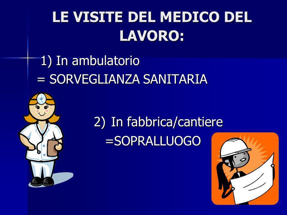 LE VISITE DEL MEDICO DEL LAVORO: