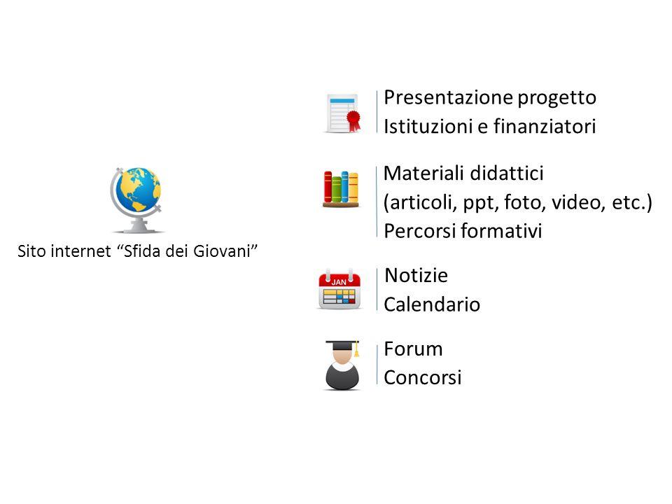 Presentazione progetto Istituzioni e finanziatori