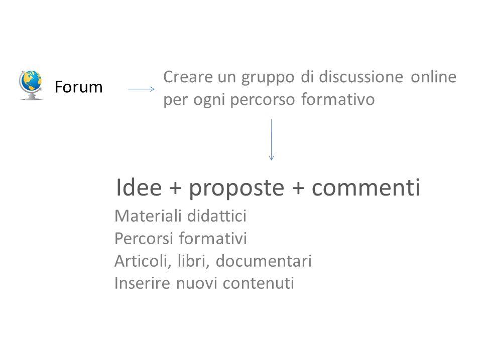 Idee + proposte + commenti