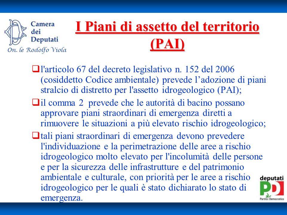 I Piani di assetto del territorio (PAI)