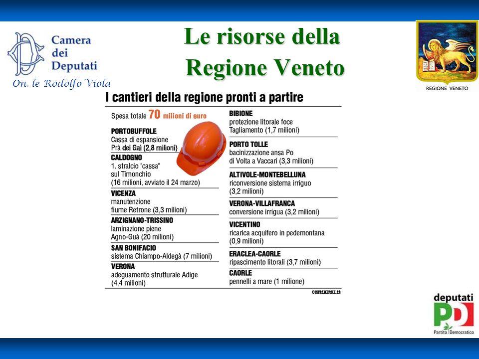 Le risorse della Regione Veneto