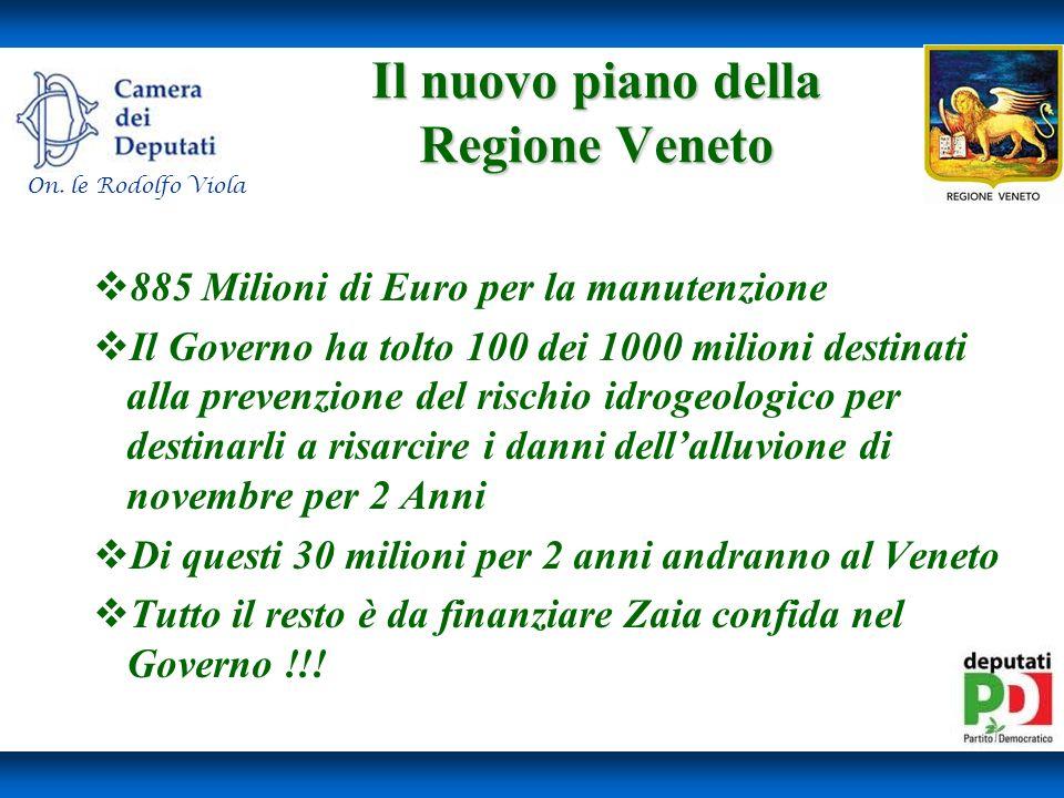 Il nuovo piano della Regione Veneto