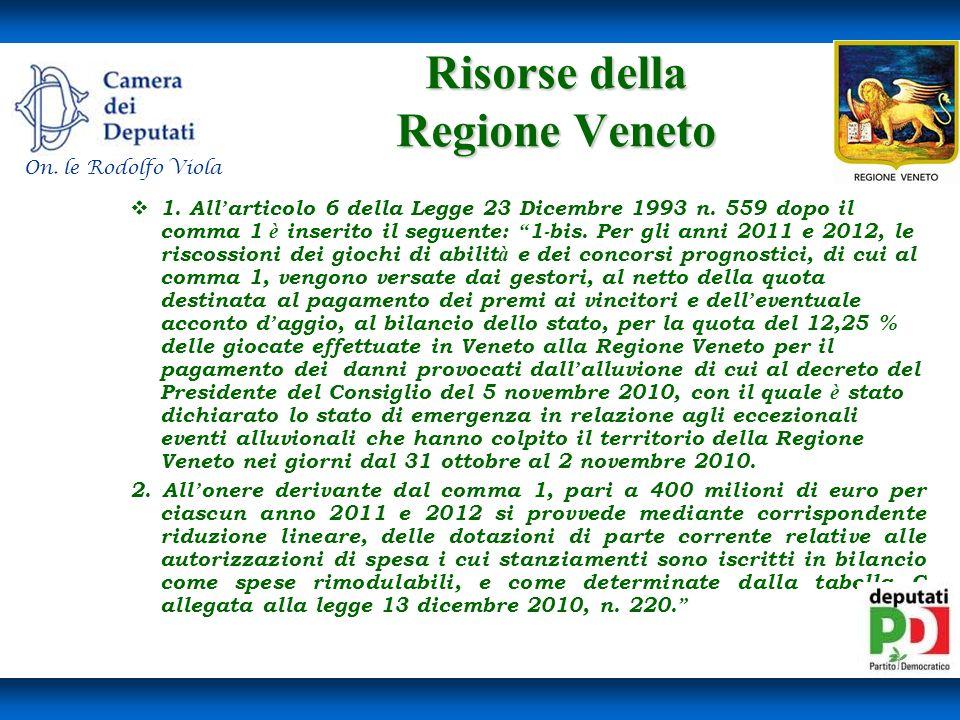 Risorse della Regione Veneto
