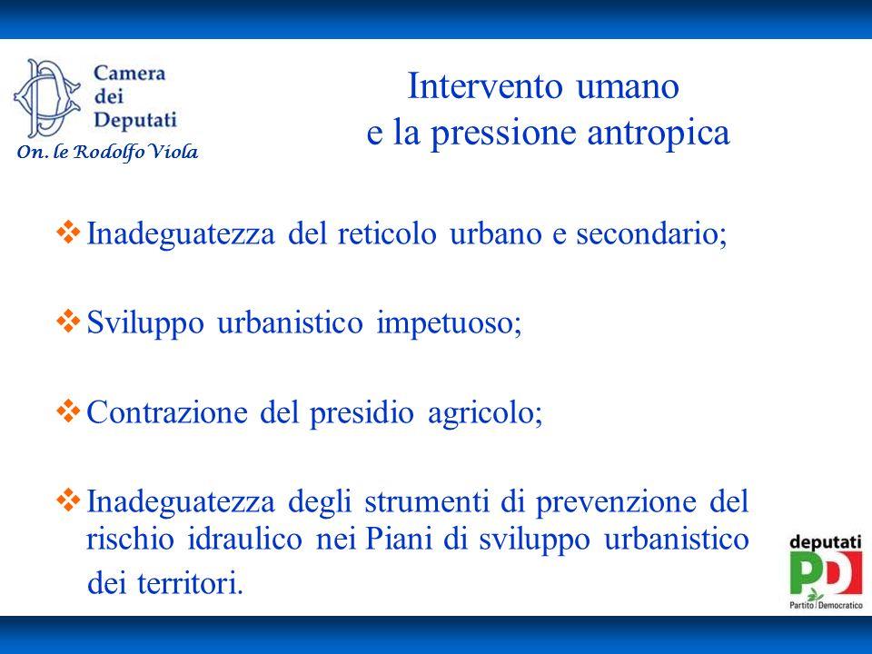 Intervento umano e la pressione antropica