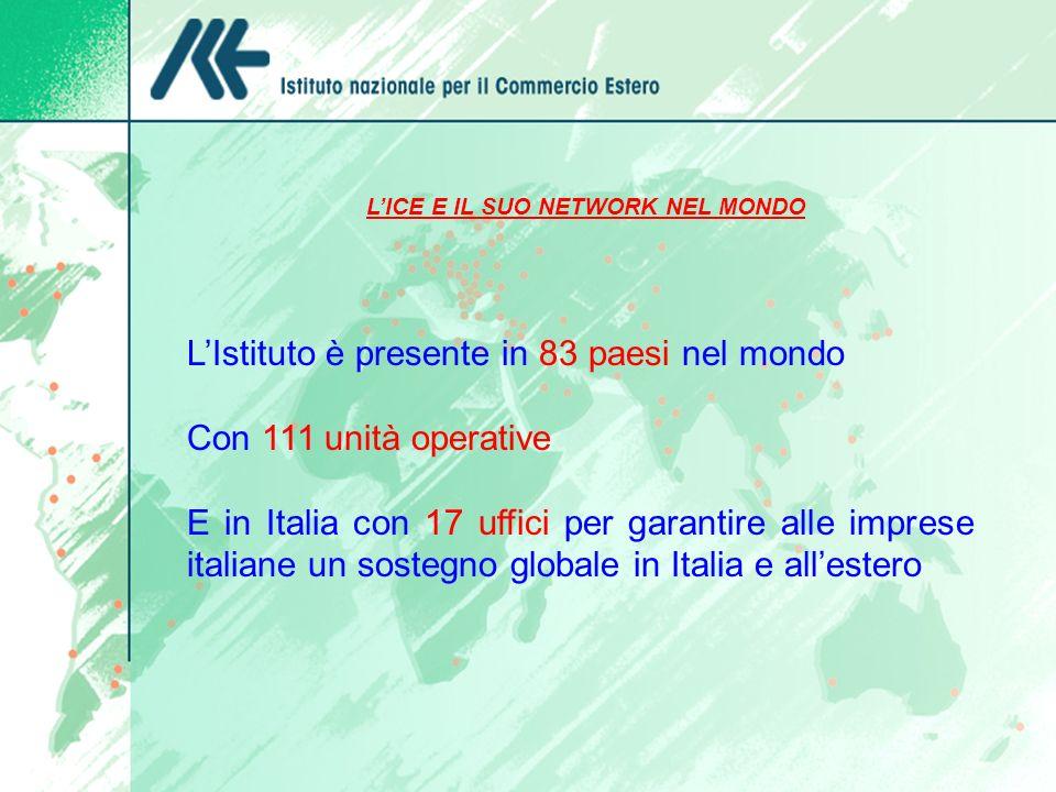 L'ICE E IL SUO NETWORK NEL MONDO