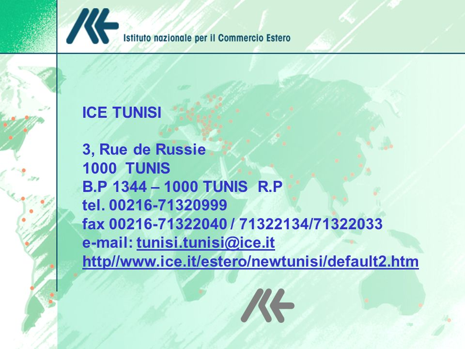 e-mail: tunisi.tunisi@ice.it