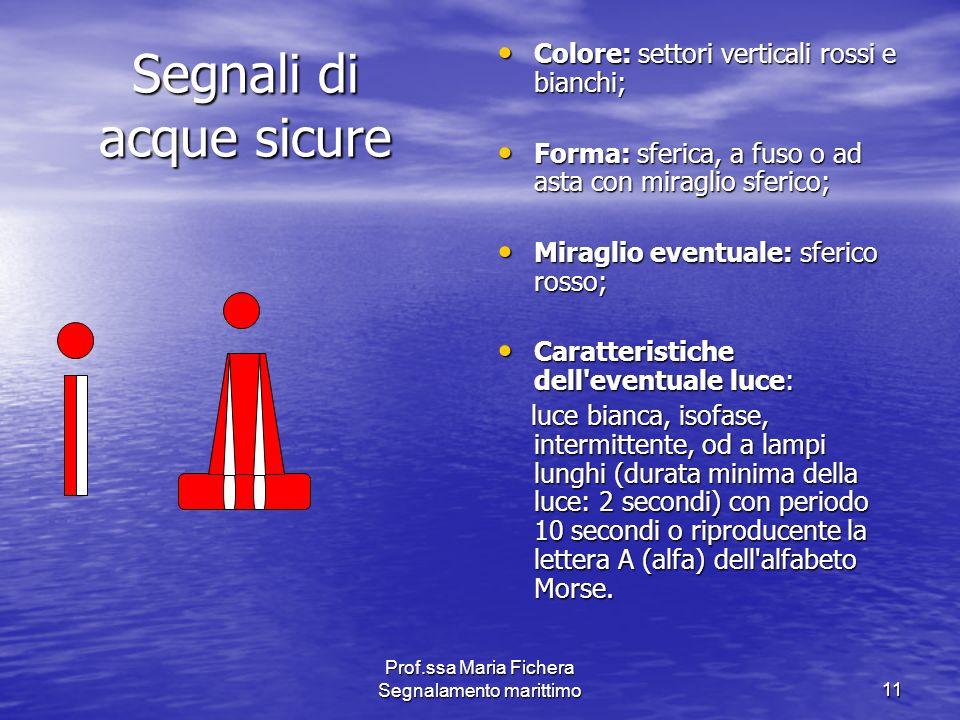 Segnali di acque sicure