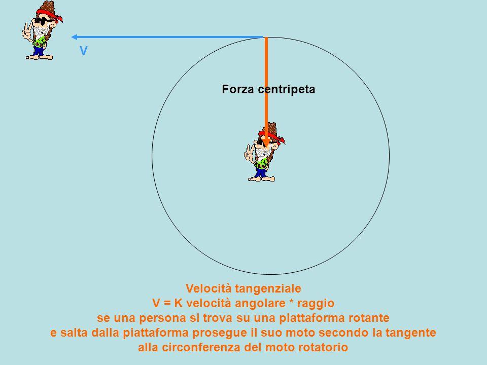V Forza centripeta.