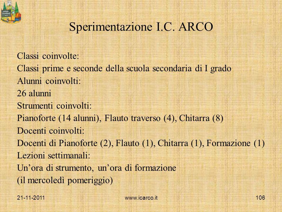 Sperimentazione I.C. ARCO