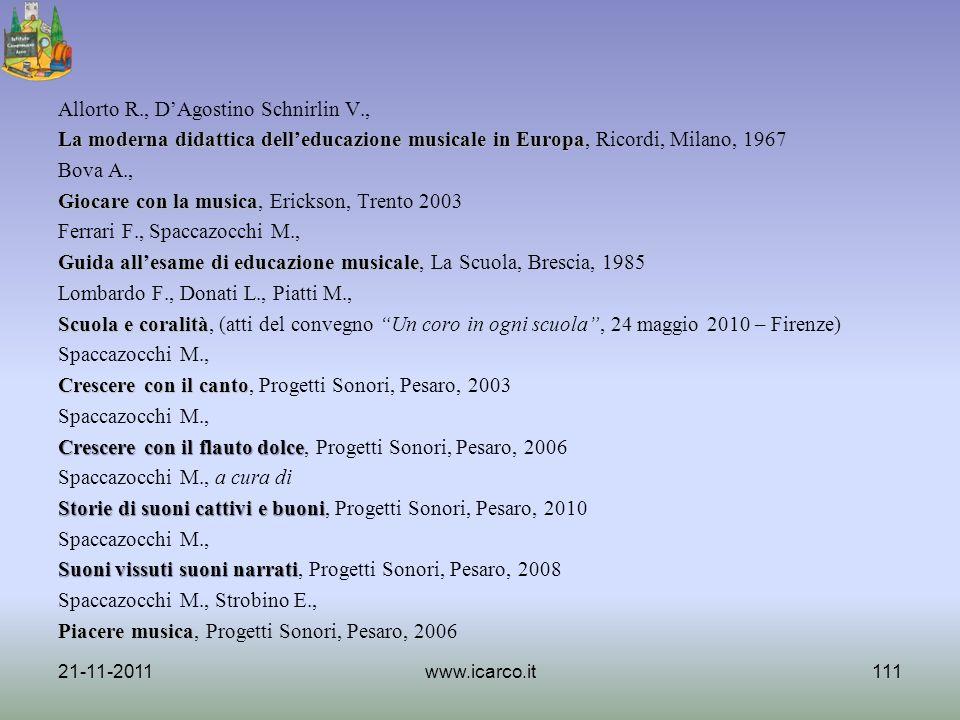 Allorto R. , D'Agostino Schnirlin V