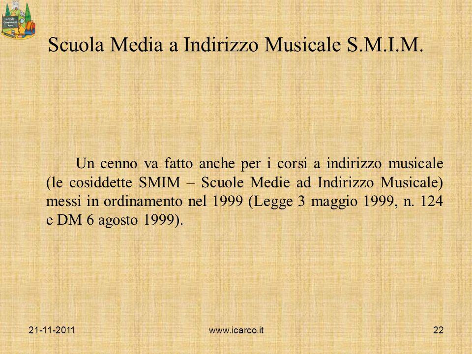 Scuola Media a Indirizzo Musicale S.M.I.M.