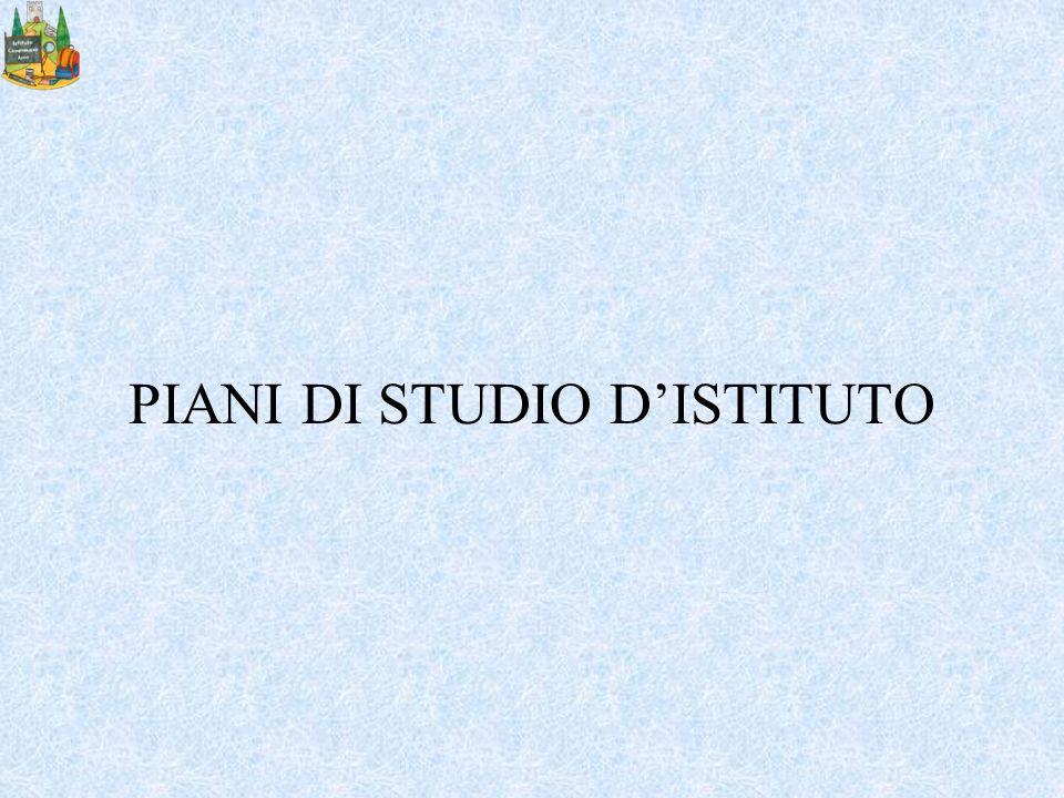 PIANI DI STUDIO D'ISTITUTO