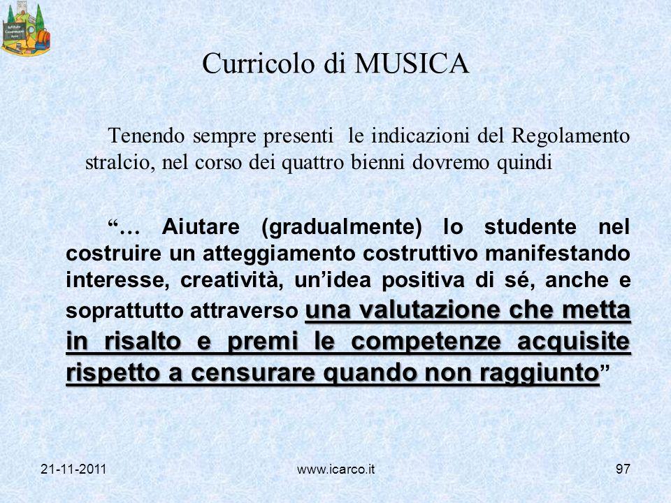 Curricolo di MUSICA