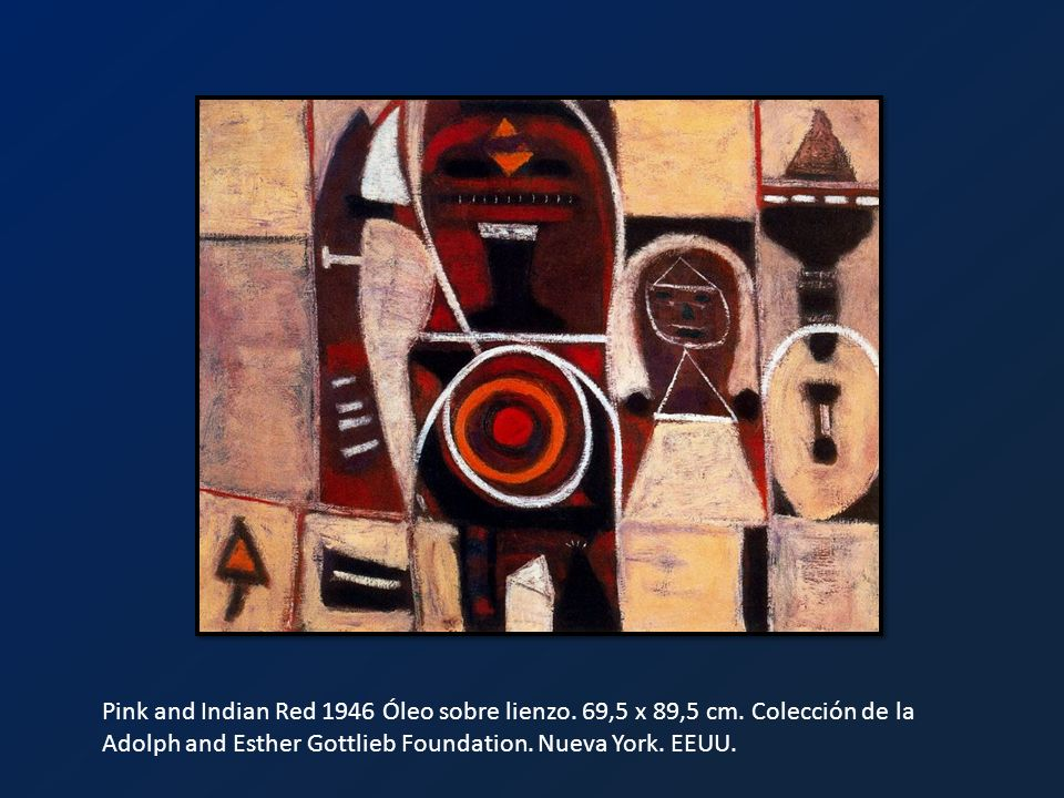 Pink and Indian Red 1946 Óleo sobre lienzo. 69,5 x 89,5 cm