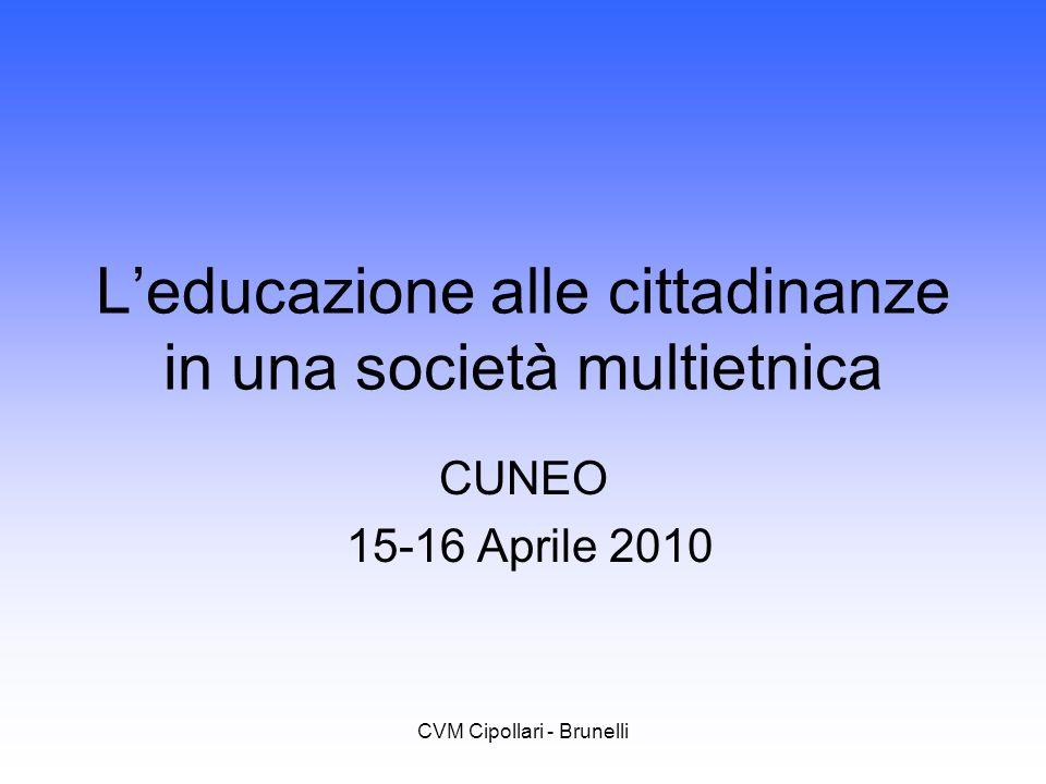 L'educazione alle cittadinanze in una società multietnica