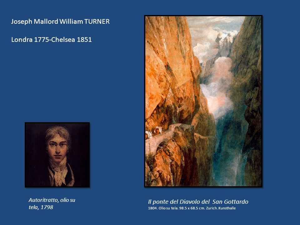 Joseph Mallord William TURNER Londra 1775-Chelsea 1851