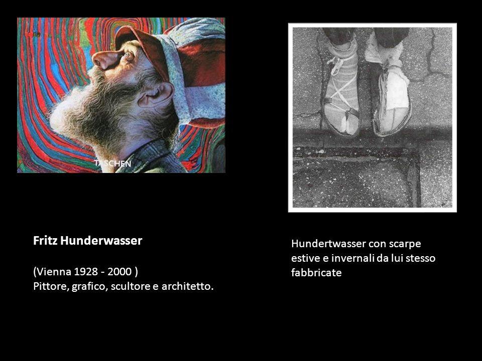 Fritz Hunderwasser (Vienna 1928 - 2000 ) Pittore, grafico, scultore e architetto.