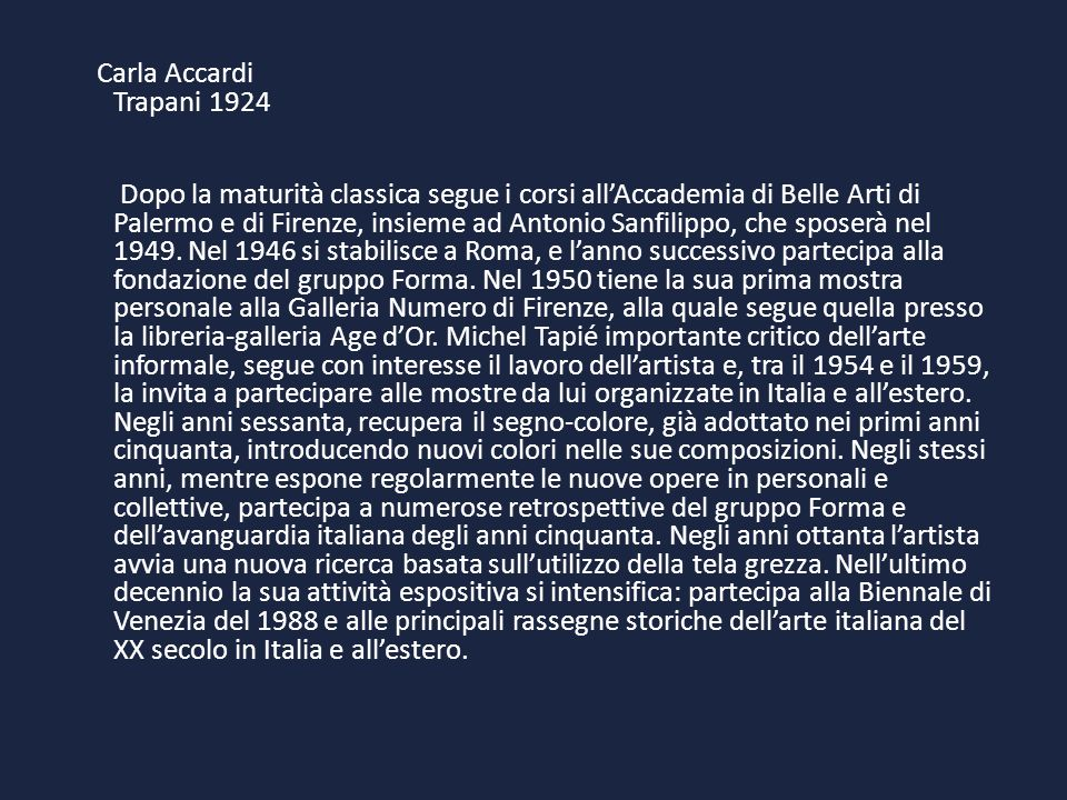Carla Accardi Trapani 1924
