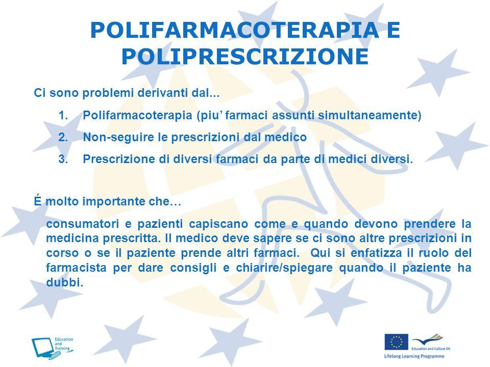 POLIFARMACOTERAPIA E POLIPRESCRIZIONE