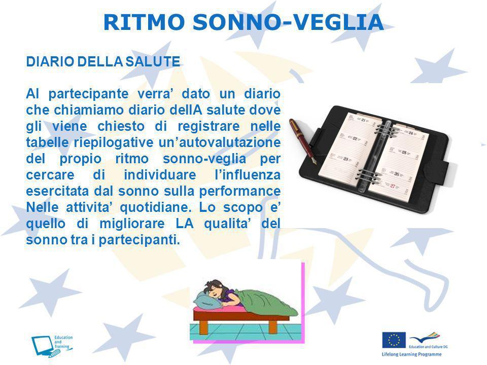 RITMO SONNO-VEGLIA DIARIO DELLA SALUTE