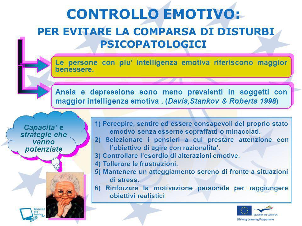 CONTROLLO EMOTIVO: PER EVITARE LA COMPARSA DI DISTURBI PSICOPATOLOGICI