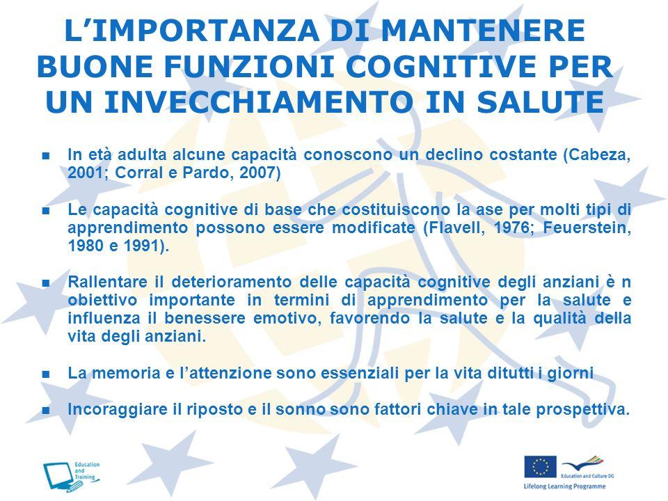 L'IMPORTANZA DI MANTENERE BUONE FUNZIONI COGNITIVE PER UN INVECCHIAMENTO IN SALUTE