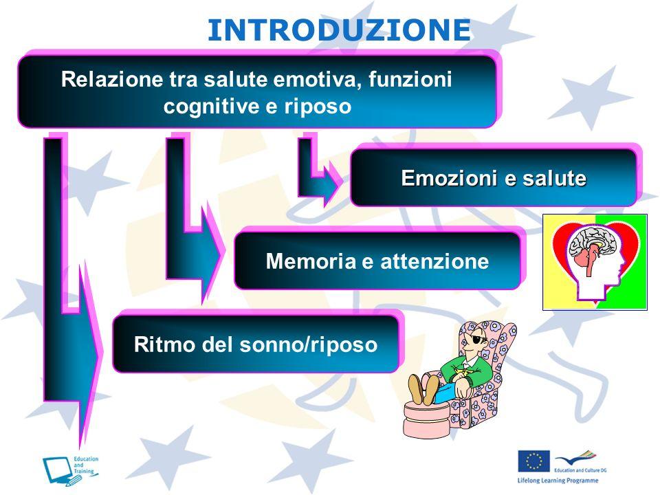 INTRODUZIONE Relazione tra salute emotiva, funzioni cognitive e riposo