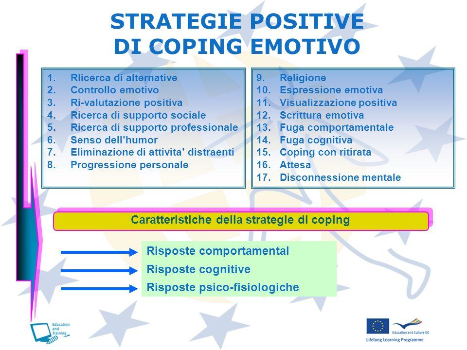 Caratteristiche della strategie di coping