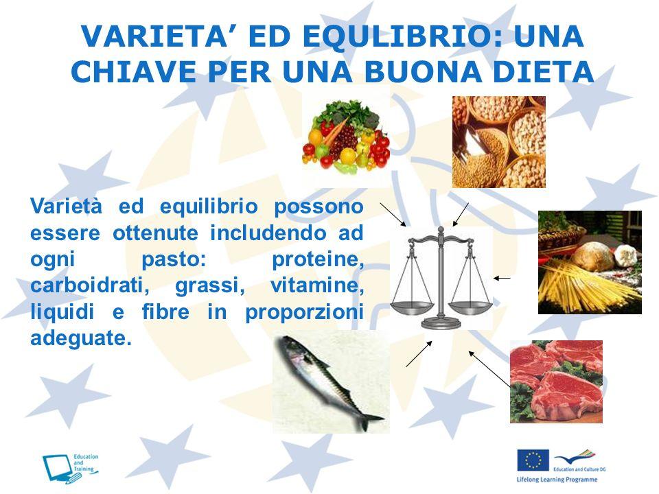 VARIETA' ED EQULIBRIO: UNA CHIAVE PER UNA BUONA DIETA