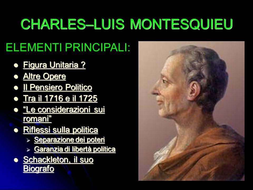 CHARLES–LUIS MONTESQUIEU