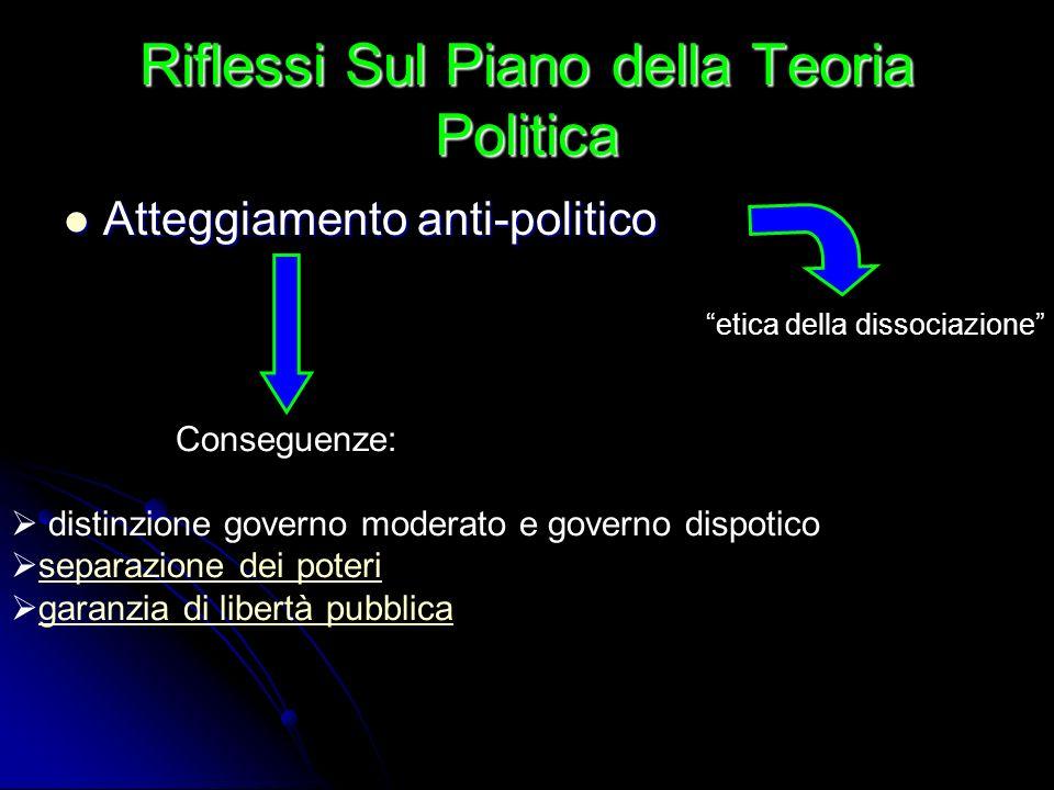 Riflessi Sul Piano della Teoria Politica