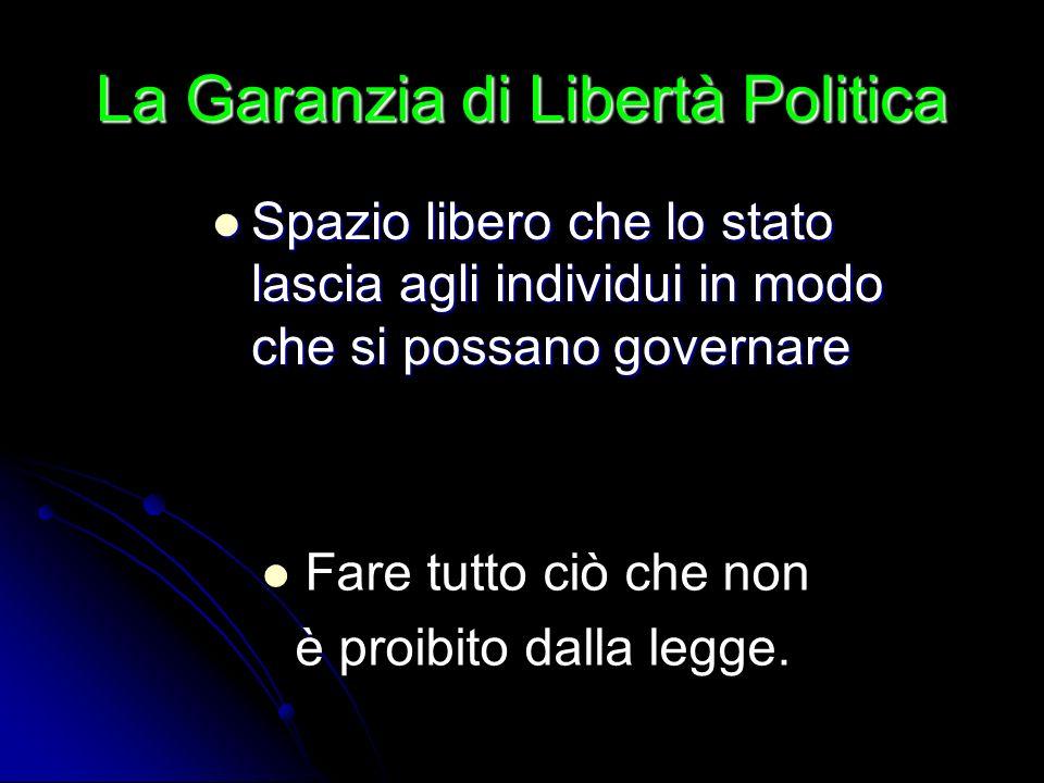 La Garanzia di Libertà Politica