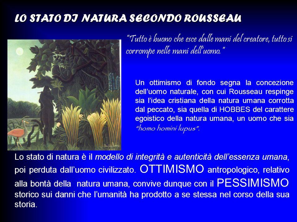 LO STATO DI NATURA SECONDO ROUSSEAU