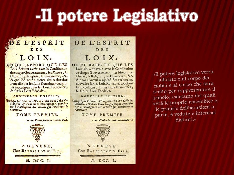 -Il potere Legislativo