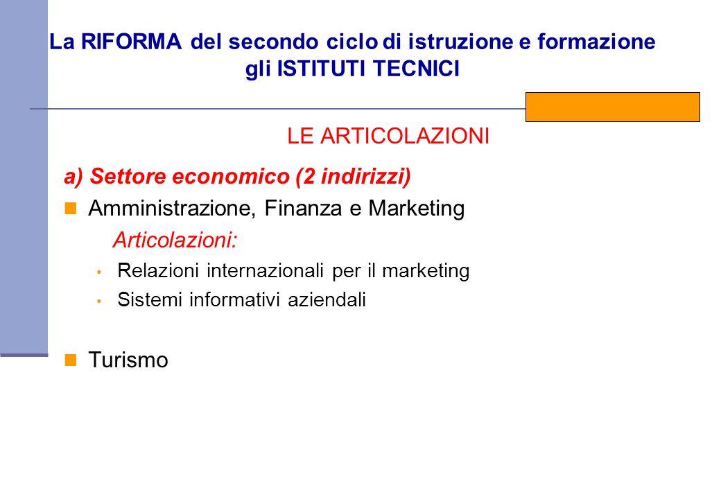 a) Settore economico (2 indirizzi)