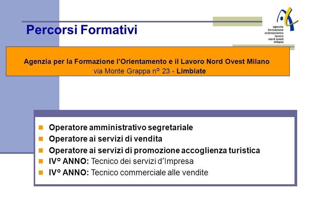 Percorsi Formativi Operatore amministrativo segretariale