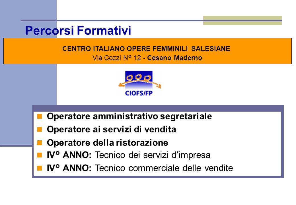 CENTRO ITALIANO OPERE FEMMINILI SALESIANE