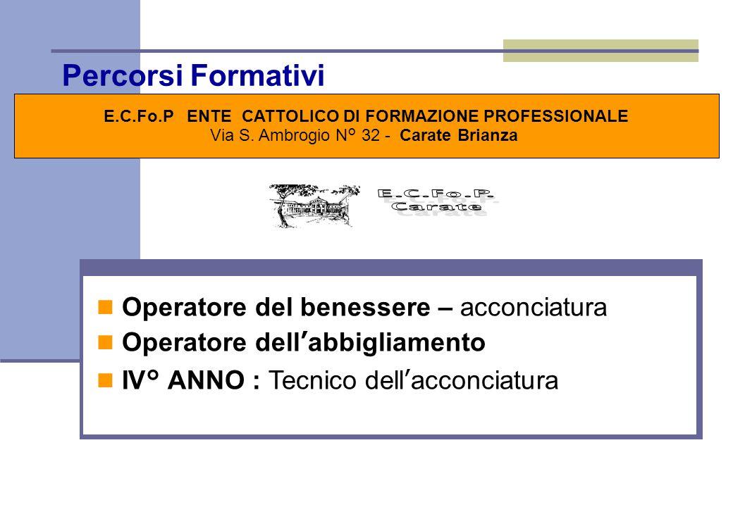 E.C.Fo.P ENTE CATTOLICO DI FORMAZIONE PROFESSIONALE