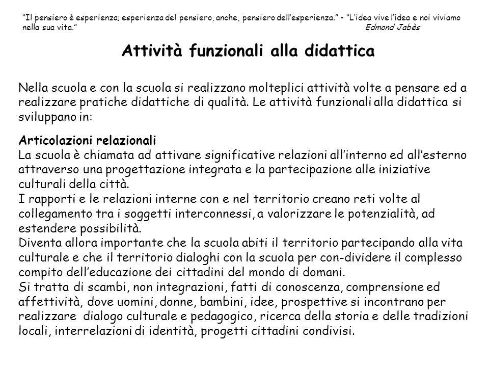 Attività funzionali alla didattica